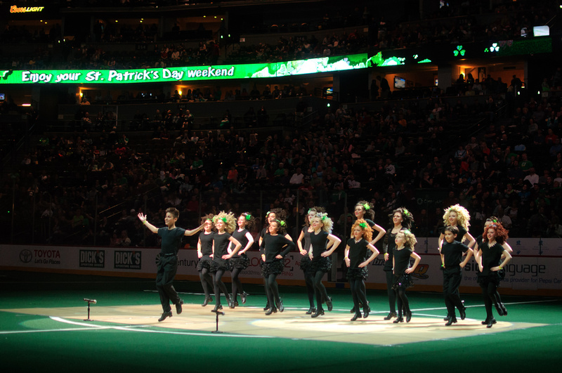 Celtic Steps Dancers Perform at Pepsi Center - St Patrick's Day