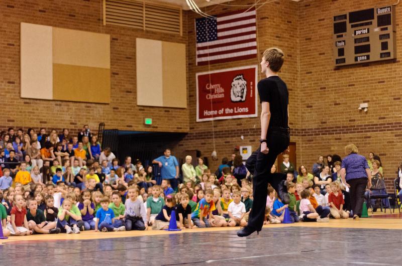 Irish Dancer Performing at Cherry Hills Christian School - St Patrick's Day